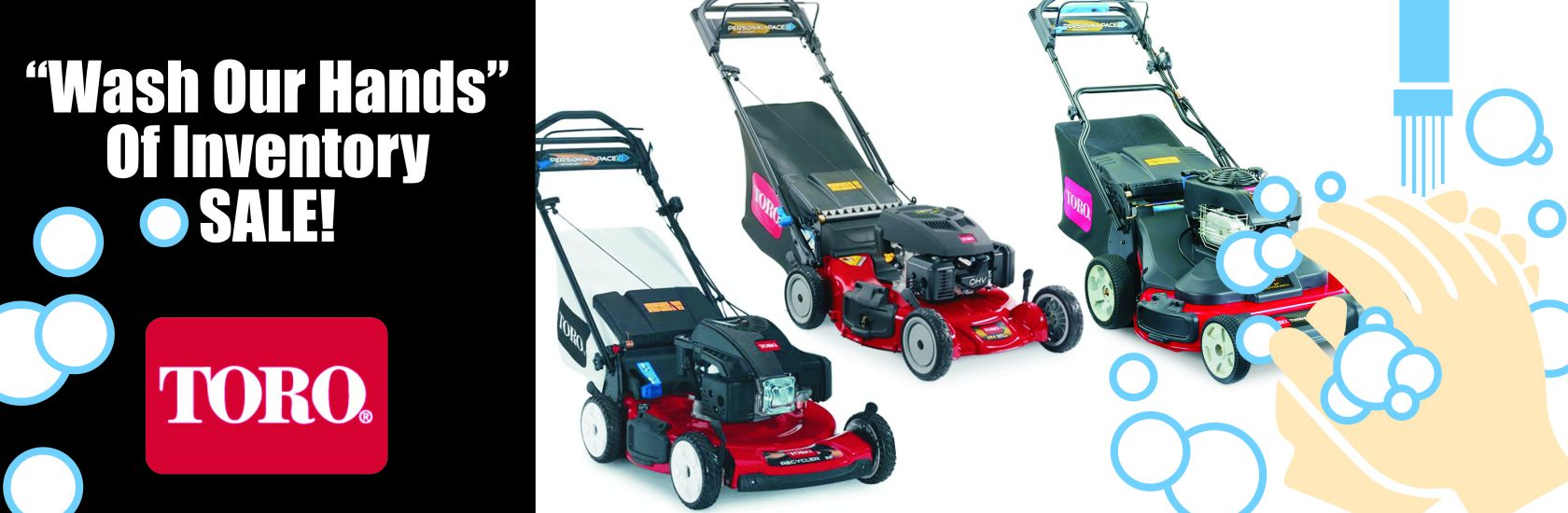 """WASH OUR HANDS"" OF INVENTORY SALE!